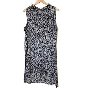 Vince Camuto- Slouch neck animal print dress